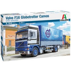 ITALERI VOLVO F16 GLOBETROTTER CANVAS WITH ELEVATOR 1:24 Scale 3945