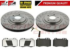 FOR MERCEDES CLK320 CLK350 CLK500 AMG FRONT 345 DRILLED BRAKE DISCS BREMBO PADS