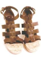NEW CHAPS ALEXANDRA POLO TAN WOMEN'S  WEDGE SANDALS SIZE 7.5NEW IN BOX