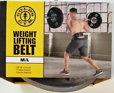 Gold's Gym Weight Lifting Belt Leather Power Lifting M/L