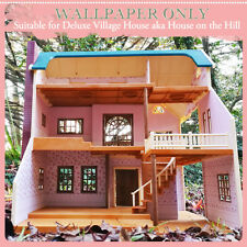 Wallpaper only | suits Sylvanian Families DELUXE VILLAGE HOUSE
