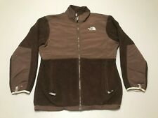 The North Face TNF Brown Fleece Nylon Full Zip Jacket Girls Size XL Used Flawed!