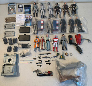 Star Wars Weapons Accessories Lot figures Luke Leia blaster lightsaber 1:18 part