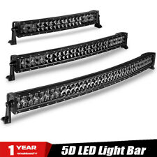 """22"""" 32"""" 42"""" inch 5D Curved LED Light Bar Black Pearl Lens Combo For JEEP Offroad"""