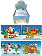 4 x Mini Christmas Jigsaws 12pcs Stocking Filler Party Bags Xmas Eve Boxes