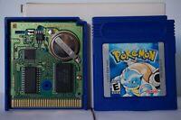 Pokemon Blue Edition Nintendo Gameboy original game boy USA battery works PAL