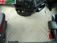 TRUCK ECO LEATHER FLOOR MATS SET FIT VOLVO FH 4 2013+ [TWIN AIR SEATS] -BEIGE