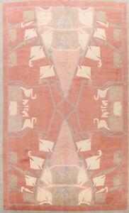 Geometric Nepal Tibetan Oriental Area Rug Dining Room Hand-knotted Wool 10'x14'