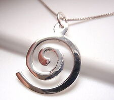 Spiral Necklace 925 Sterling Silver Corona Sun Jewelry Imported from Thailand