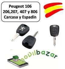 LLAVE CARCASA PEUGEOT 106 206 207 407 806 MANDO 2 DOS BOTONES HDI XS SW. ESPAÑA