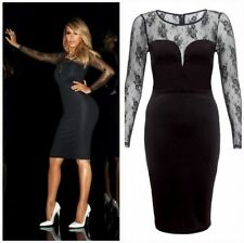 Lipsy Polyester Crew Neck Stretch, Bodycon Dresses for Women