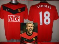 Manchester United Nike PAUL SCHOLES S M L XL XXL Football Soccer Shirt Jersey 10