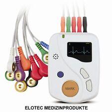24 Stunden Langzeit EKG Gerät 12 Kanal Holter Event Recorder Rekorder Bis 48 Std