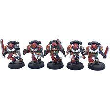 Warhammer 40K Space Marine Blood Angels Death Company Metal oop x 5