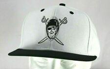 Oakland Raiders White/Black NFL Vintage Collection Reebok  Baseball Cap Snapback