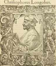 Bildnis des fläm. Humanisten Christophe de Longueil (1490-1522), Kupferstich