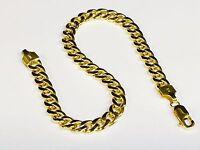"10k Yellow Gold Miami Cuban Curb Link 9"" 9.2 mm 18 grams Bracelet 250HMC"