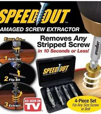 Srew Extractor 4PCS Drill Bits Guide Set Broken Damaged Bolt Remover Speed Out