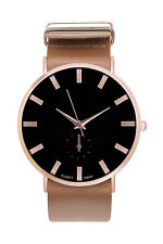 Damenuhr Armbanduhr Herren Uhr Uhren Farbe Rosegold Silber Gold Lederarmband