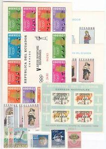 ER10238/ ECUADOR – 1963 / 1990 MINT MNH MODERN SELECTION