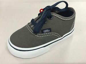 Vans Shoes Tots Authentic PEWTER / DRESS BLUES Children Toddler Boys NEW