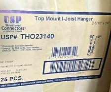 """Top Mount I-Joist Hanger 2-5/16""""x14"""" USP THO23140 (Box of 25)"""