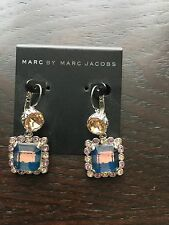 Marc Jacobs Apricot and Blue Gingham Earrings