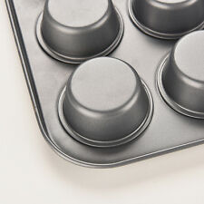 New 12Cup Metal Nonstick Cupcake Baking Mold Pan Tray Tin Cake Pudding Muffin PL