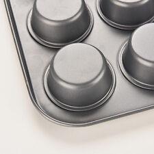 New 12Cup Metal Nonstick Cupcake Baking Mold Pan Tray Tin Cake Pudding Muffin HS