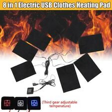 Thermal Clothing Jacket Clothes Heating Pad Adjustable Temp Electric 8 In 1 USB