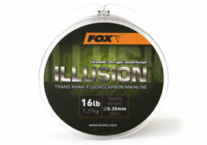 Fox Illusion Fluorocarbon Mainline Trans Khaki *All Sizes* NEW Carp Fishing