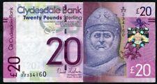SCOTLAND   Clydesdale Bank  £20   2009   E/ZZ +  FREE  WHS New Lanark brochure