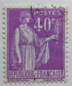 A8P6F32 France 1932-33 40c used