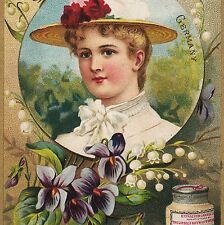 ca 1892 LIEBIG S 0331 National Beauties English Germany Advertising Trade Card