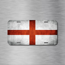 England English Flag UK London Manchester Vehicle License Plate Front Auto Tag