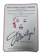 """More details for rare """"marilyn"""" (monroe) 1983 london royal world premier program with 2 tickets."""