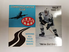 Yale University Bulldogs 1986/87 Men's Hockey Pocket Schedule - AAA