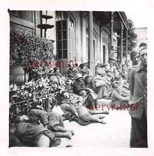 Franz. Gefangene Soldaten in Besancon Frankreich