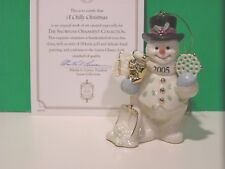 LENOX 2005 annual SNOWMAN ORNAMENT a Chilly Christmas NEW in BOX with COA