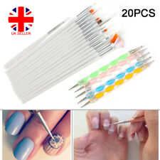 20pcs UV Gel Nail Art Design Painting Dotting Detailing Pen Brushes Tool Kit Set