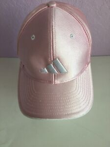 ADIDAS Girl's Kids Hat Cap Pink Polyester Adjustable Strap  Pre-owned
