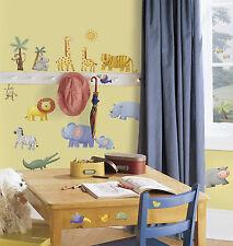 29 New JUNGLE ANIMALS WALL DECALS Safari Decor Baby Nursery Stickers Decorations