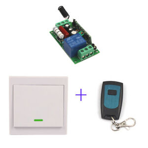 110V 220V 10A Relay Home Wireless Wall Switch+Remote Transmitter+Receiver