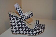 NEW $890+ DIOR Volt Wedge Slingback Sandal Canvas Black Pink White Shoe 39.5 / 9