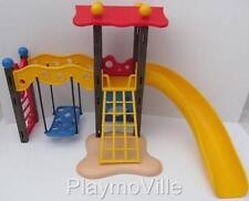 Playmobil DOLLSHOUSE/Aire De Jeux/School: Escalade Cadre, Swing & Slide Set Nouveau