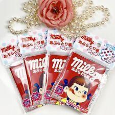 4 Peko Fujiya Milky Oil Blotting Paper Bandai Red Milky Original MADE IN JAPAN