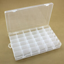 Plastique Chaud 36Slots transparent Bijouterie Boite De Rangement étui Artisanat