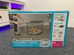 You & Me 1-Door Folding Dog Crate - XS - New Open Box