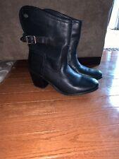 Women's Harley Davidson Black Leather Biker Boots Size 7.5