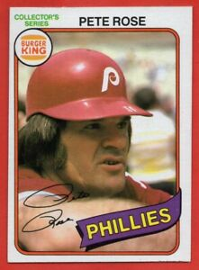 1980 Topps Burger King #21 Pete Rose NEAR MINT Philadelphia Phillies FREE S/H